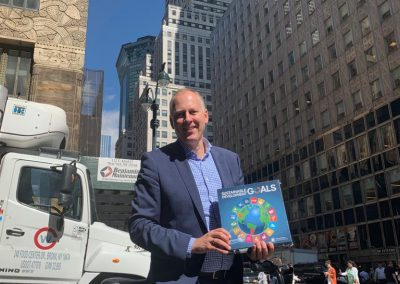 Jan-Willem Scheijgrond, Chairman GCNL, on his way with the SDG Game to the UN office in New York