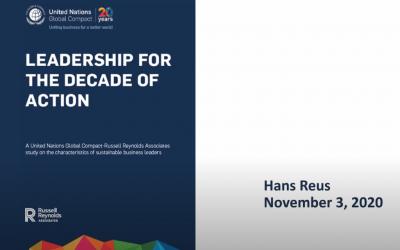 Webinar Sustainable Leadership terug kijken